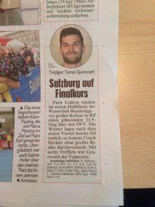 Sieg im Halbfinale - Artikel in der Kronen Zeitung